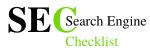 Search Engine Checklist